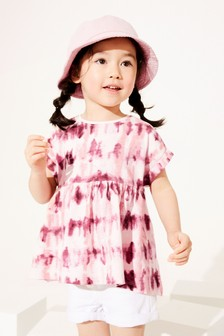 Pink Tie Dye Organic Cotton T-Shirt (3mths-7yrs)