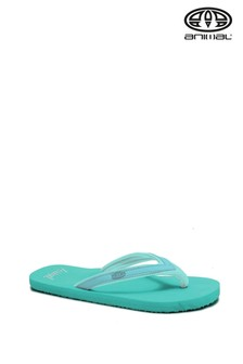 Animal Green Swish Slim Block Flip Flops