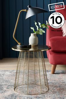 Gold Wire Side Table