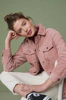 Pink Long Cord Jacket