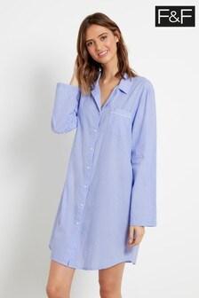 F&F Blue Woven Nightshirt