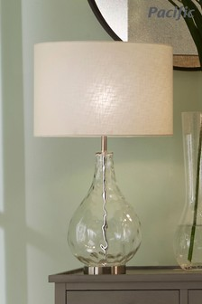 Charlotte Clear Glass Table Lamp by Pacific