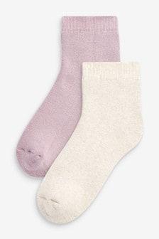 Purple Welly Ankle Socks 2 Pack