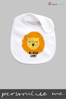 Personalised Lion Bib by Loveabode