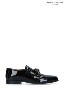 Kurt Geiger London Black Hugh Eagle Head Shoes