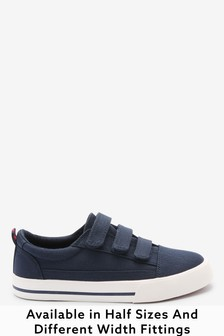 Navy Strap Touch Fastening Shoes (Older)