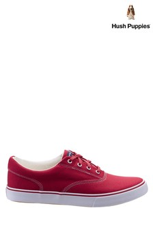 Hush Puppies Red Byanca Lace-Up Trainers
