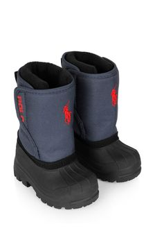 Boys Navy Snow Boots