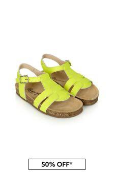 Bonpoint Baby Girls Yellow Sandals