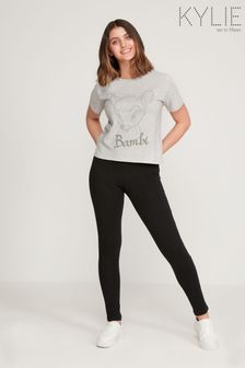 Kylie Black Plain  Leggings
