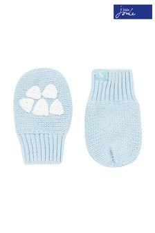 Joules Blue Paws Knitted Gloves
