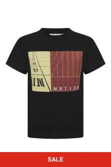 Boys Black Organic Cotton Jersey T-Shirt