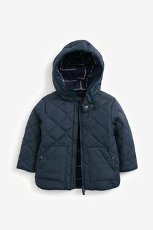 Navy Smart Quilted Jacket (3mths-7yrs)