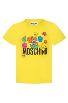 Moschino Kids Moschino Baby Yellow Cotton T-Shirt
