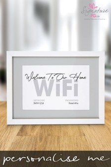 Personalised Home WiFi Framed Print by Signature Gifts