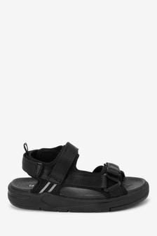 Black Chunky Trekker Sandals (Older)