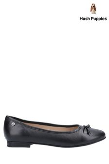 Hush Puppies Black Naomi Slip-On Ballet Pumps