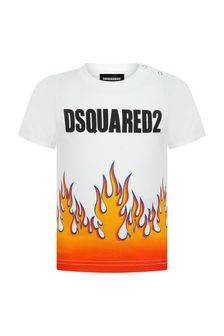 Dsquared2 Kids Baby Boys White Cotton T-Shirt
