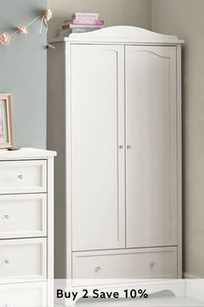 White Amelia Double Wardrobe