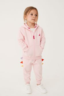 Pink Dinosaur Character Hoody Soft Touch Jersey (3mths-7yrs)