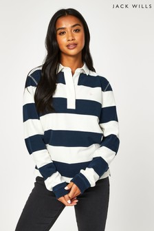 Jack Wills Blue Criggan Rugby Shirt