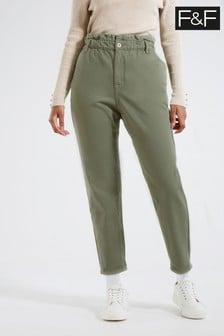 F&F Khaki Mom Jeans
