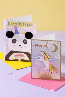 Set of 4 Girls Birthday Cards