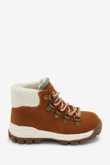 Tan Borg Lined Hiker Boots