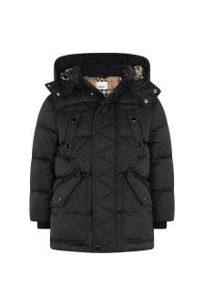 Boys Black Padded Jacket
