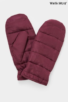 White Stuff Pink Padded Mittens