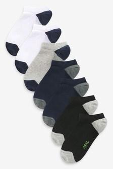 Multi 7 Pack Cotton Rich Low Cut Trainer Socks (Older)