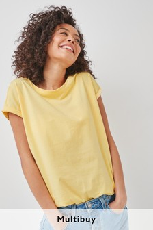 Lemon Yellow Cap Sleeve T-Shirt