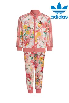 adidas Originals Little Kids Floral Superstar Tracksuit
