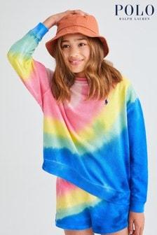 Multi Ralph Lauren Tie Dye Logo Sweatshirt