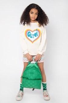 حقيبة ظهر خضراء للأطفال