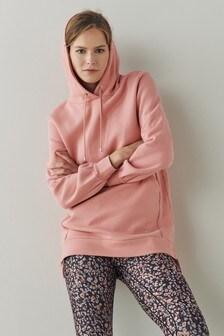 Pink Longline Hoodie