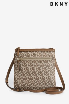 DKNY Logo Print Canvas Casey Cross-Body Bag