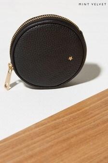 Mint Velvet Black Leather Coin Purse