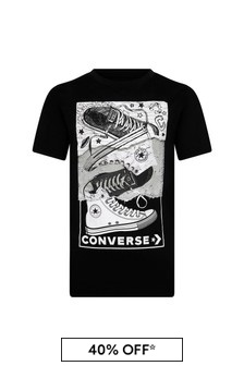 Converse Boys Black Cotton T-Shirt