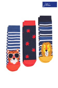 Joules Blue Brilliant Bamboo Character Socks Three Pack