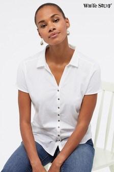 White Stuff White Coastal Path Jersey Shirt