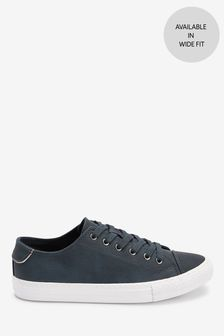 Navy Regular/Wide Fit Baseball Lace-Up Trainers