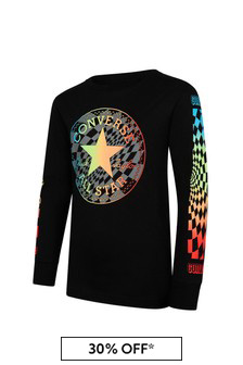 Converse Black Cotton Long Sleeve T-Shirt