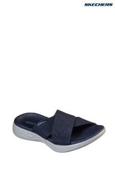 Skechers® Blue On-The-Go 600 Glistening Sandals