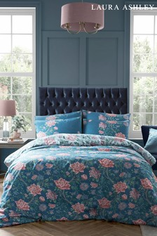 Laura Ashley Tapestry Floral Duvet Cover and Pillowcase Set