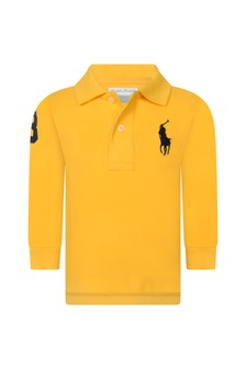 Baby Boys Yellow Cotton Long Sleeve Top