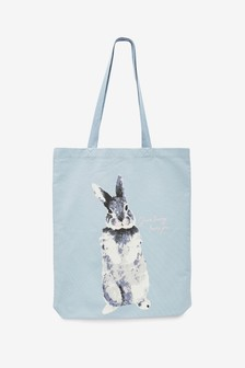 Pale Blue Easter Bunny Slogan Bag For Life