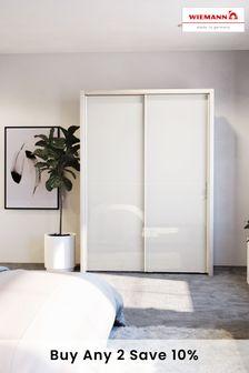 White-mirror Peyton 1.6M Glass Sliding Wardrobe