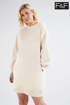 F&F Cream Sweat Dress