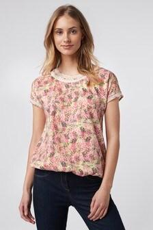 Pink Ditsy Bubblehem T-Shirt